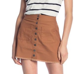 NWT Madewell Snap Front A-Aline Mini Skirt